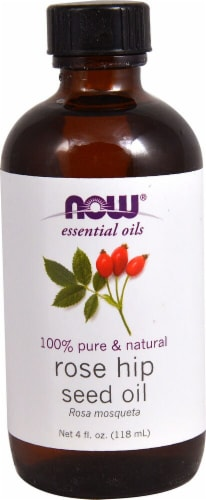 NOW Foods  Essential Oils Rose Hip Seed Oil Perspective: front