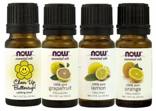 NOW Foods  Solutions® Put Some Pep in Your Step Uplifting Essential Oils Kit Perspective: front
