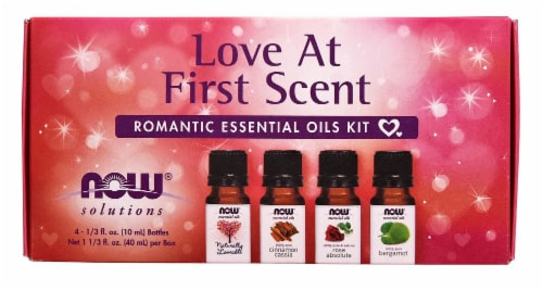 NOW Love At First Scent Romantic Essential Oils Kit Perspective: front