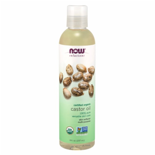 Now Solutions Certified Organic Castor Oil Perspective: front