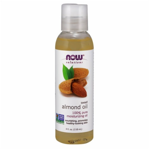 NOW Foods  Solutions Sweet Almond Oil Perspective: front