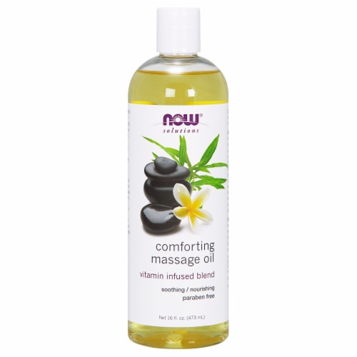 NOW Foods NOW Solutions Vitamin Infused Blend Comforting Massage Oil Perspective: front