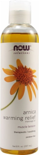 NOW Foods  Solutions Arnica Warming Relief Massage Oil Perspective: front