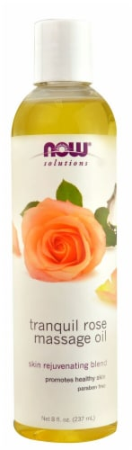 NOW Foods  Solutions Tranquil Rose Massage Oil Perspective: front