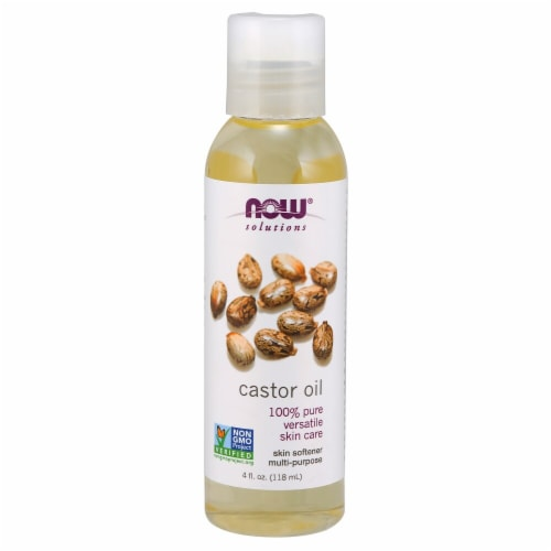 NOW Foods  Solutions Castor Oil Perspective: front