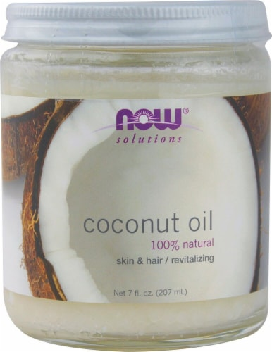 NOW Foods  Solutions Coconut Oil Perspective: front