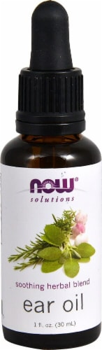 NOW Foods Solutions Soothing Herbal Blend Ear Oil Perspective: front