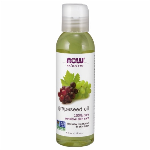 NOW Foods  Solutions Grapeseed Oil Perspective: front