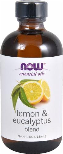 NOW Foods  Essential Oils Lemon & Eucalyptus Oil Blend Perspective: front