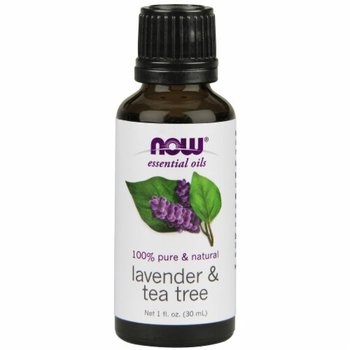NOW Foods  Essential Oils Lavender & Tea Tree Perspective: front