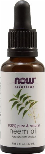 NOW Foods  Solutions Neem Oil Perspective: front