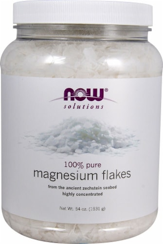 NOW Foods  Solutions Magnesium Flakes Perspective: front