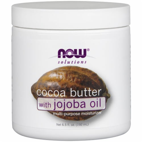 NOW Foods  Solutions Cocoa Butter with Jojoba Oil Perspective: front