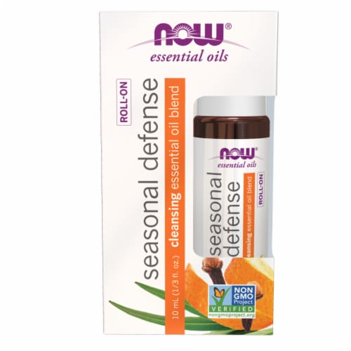 Now Seasonal Defense Cleansing Roll-On Essential Oilm Blend Perspective: front