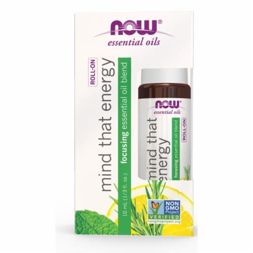Now Mind That Energy Focusing Roll-On Essential Oil Blend Perspective: front