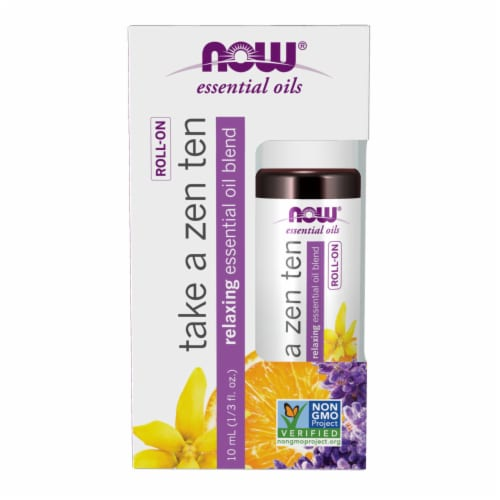 Now Take A Zen Ten Relaxing Roll-On Essential Oil Blend Perspective: front