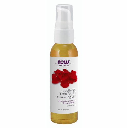 NOW Foods Soothing Rose Facial Cleansing Oil Perspective: front