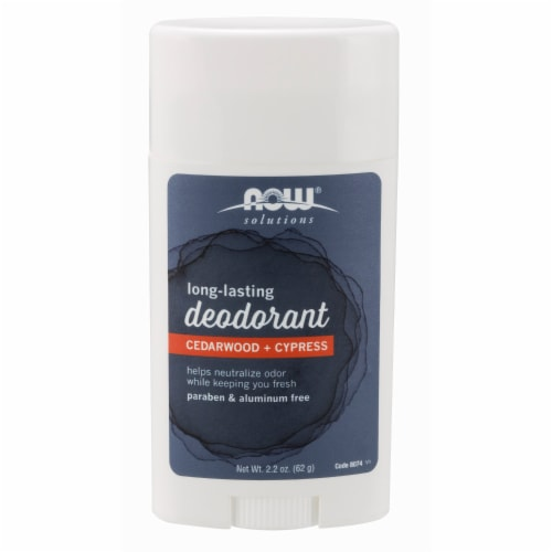 NOW Foods Cedarwood + Cypress Long Lasting Deodorant Perspective: front