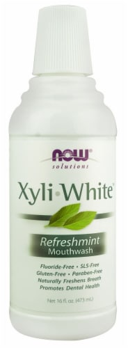 NOW   Solutions Xyliwhite™ Mouthwash   Refreshmint Perspective: front