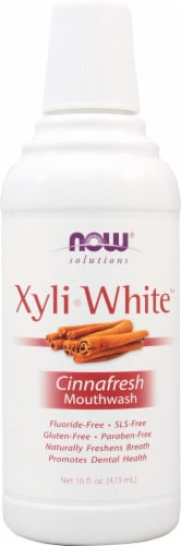 NOW   Solutions XyliWhite™ Mouthwash   Cinnafresh Perspective: front