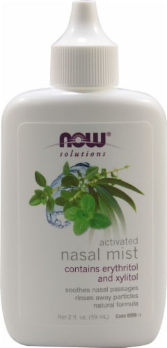 NOW Foods  Solutions Activated Nasal Mist Perspective: front