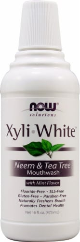 NOW   Solutions XyliWhite™ Neem & Tea Tree Mouthwash   Mint Perspective: front