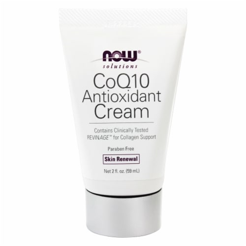 NOW Foods  Solutions CoQ10 Antioxidant Cream Perspective: front