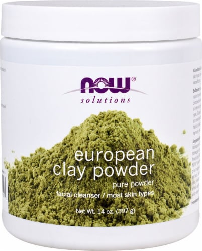 NOW Foods  Solutions European Clay Powder Perspective: front