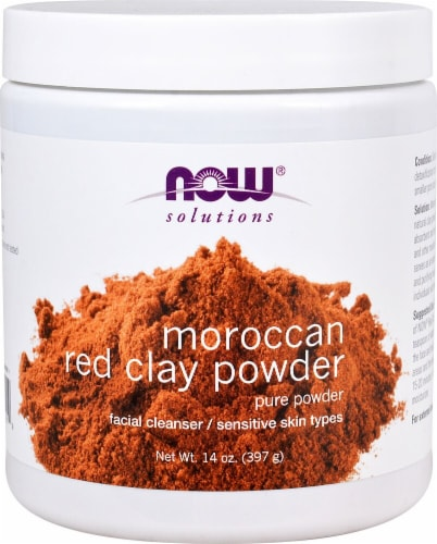 NOW Foods  Solutions Moroccan Red Clay Powder Perspective: front