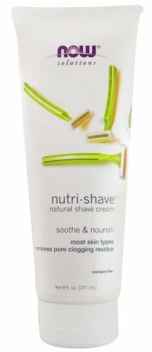 NOW Foods  Solutions Nutri-Shave Natural Shave Cream Perspective: front