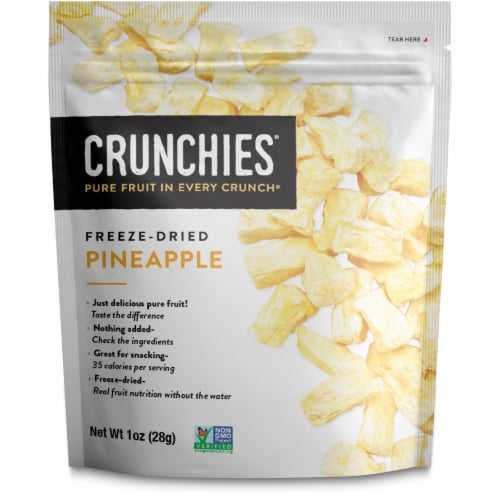 Crunchies Freeze-Dried Pineapple Perspective: front
