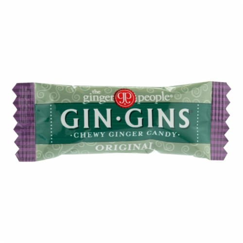 The Ginger People Gin-Gins Original Ginger Chewy Candy Perspective: front