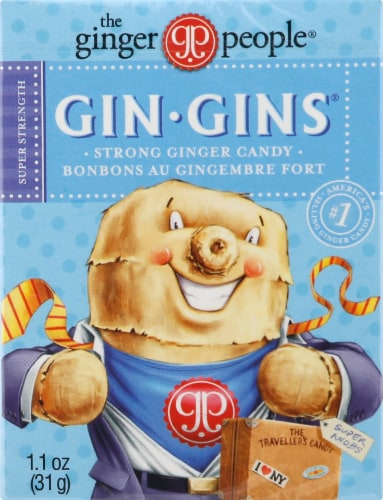 The Ginger People Gin Gins Super Strength Ginger Candy Perspective: front