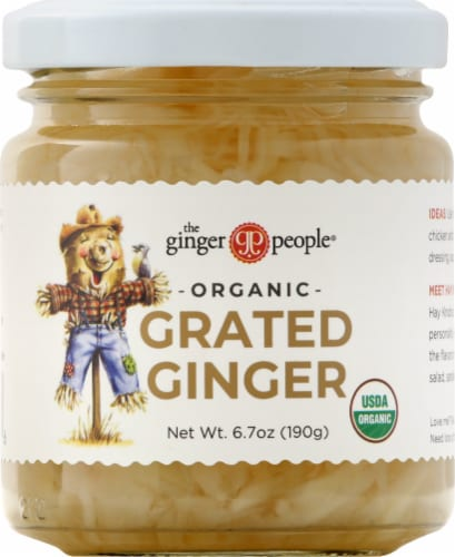 The Ginger People Organic Grated Ginger Perspective: front