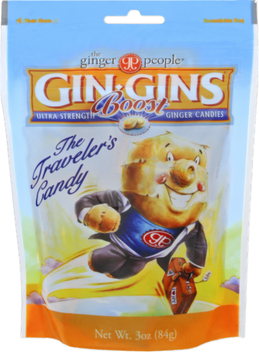 The Ginger People Double Strength Ginger Candy Chews Perspective: front