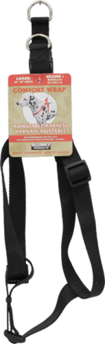 Alliance Comfort Wrap Adjustable Black Harness for Large Dogs Perspective: front