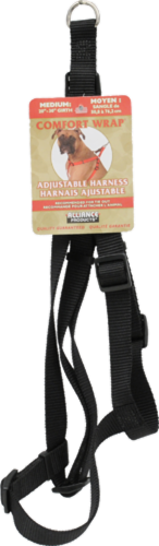 Alliance Comfort Wrap Adjustable Black Harness for Medium Dogs Perspective: front