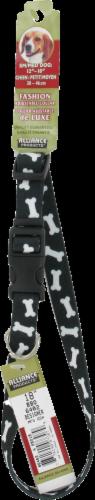 Alliance Black Bones Small/Medium Dog Collar Perspective: front