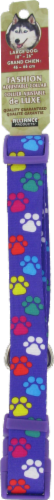 Alliance Purple Paws Large Dog Collar Perspective: front