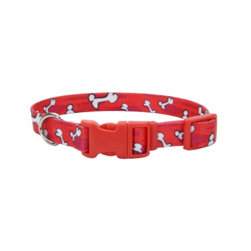 Alliance Red Bones Small Dog Collar Perspective: front