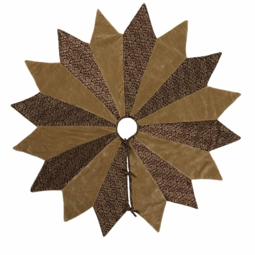 Vickerman QTX17080 60 in. Brocade Brilliance Gold Tree Skirt Perspective: front
