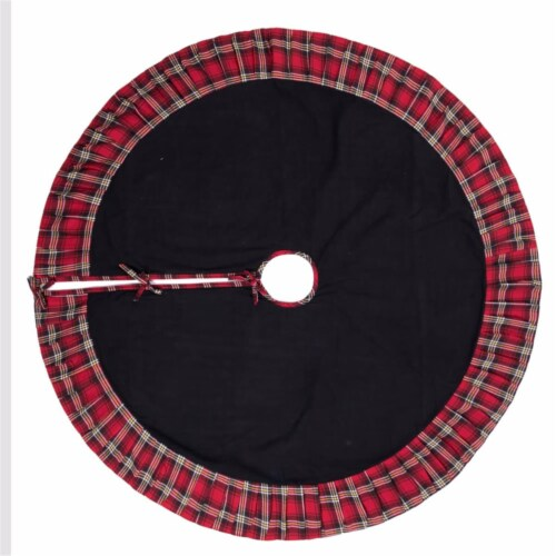 Vickerman QTX17141 60 in. Scotsman Collection Black Tree Skirt Perspective: front
