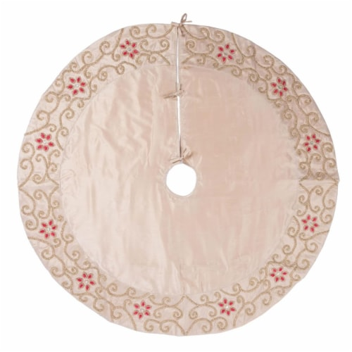 Vickerman QTX17251 60 in. Regal Collection Champagne Tree Skirt Perspective: front