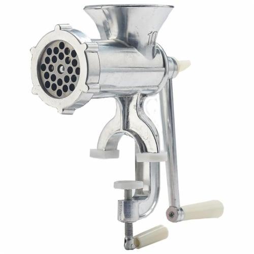 LEM Products 6014053 Brushed Silver Meat Grinder Perspective: front