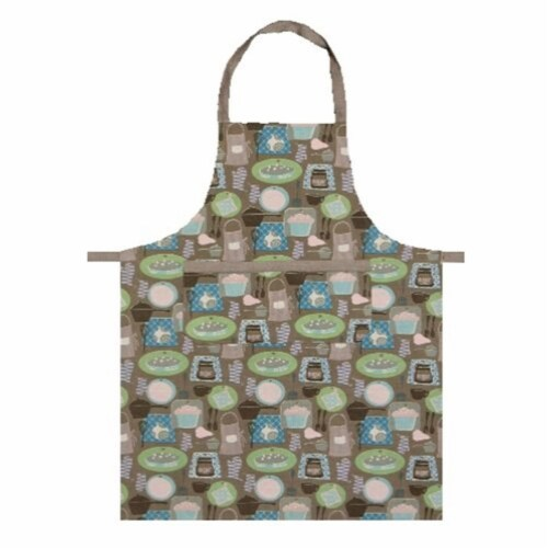 Heritage Lace TA-APRT Tasty 28 x 34 in. Apron - Truffle Perspective: front