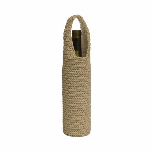 Heritage Lace MC-1085TN Mode Crochet Wine Bottle Wrap, Tan Perspective: front