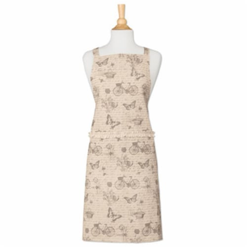 Heritage Lace NS-APR1 26 x 34 in. Natures Script Apron Perspective: front