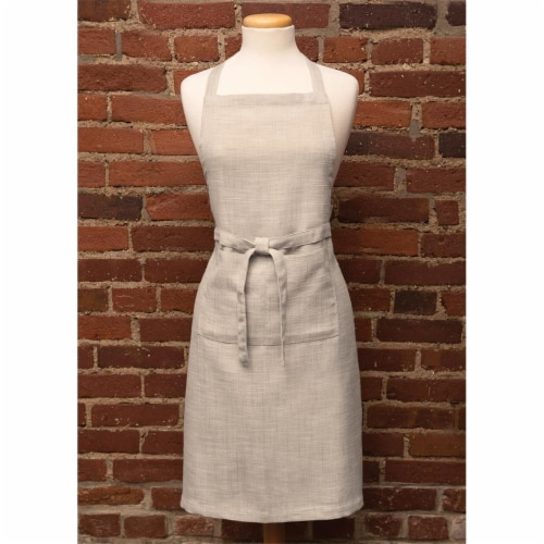 Heritage Lace FNW-APRO 26 x 34 in. Natural Wovens Apron, Oyster Perspective: front