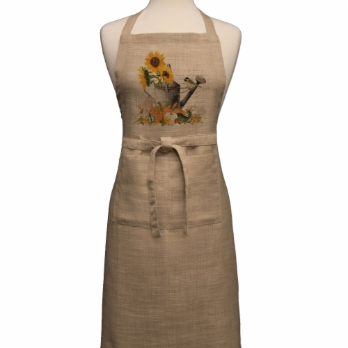 Heritage Lace Autumn Garden Apron, Natural - 26 x 34 in. Perspective: front