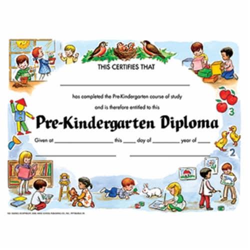 Pre-Kindergarten Diploma, 8.5  x 11 , Pack of 30 Perspective: front